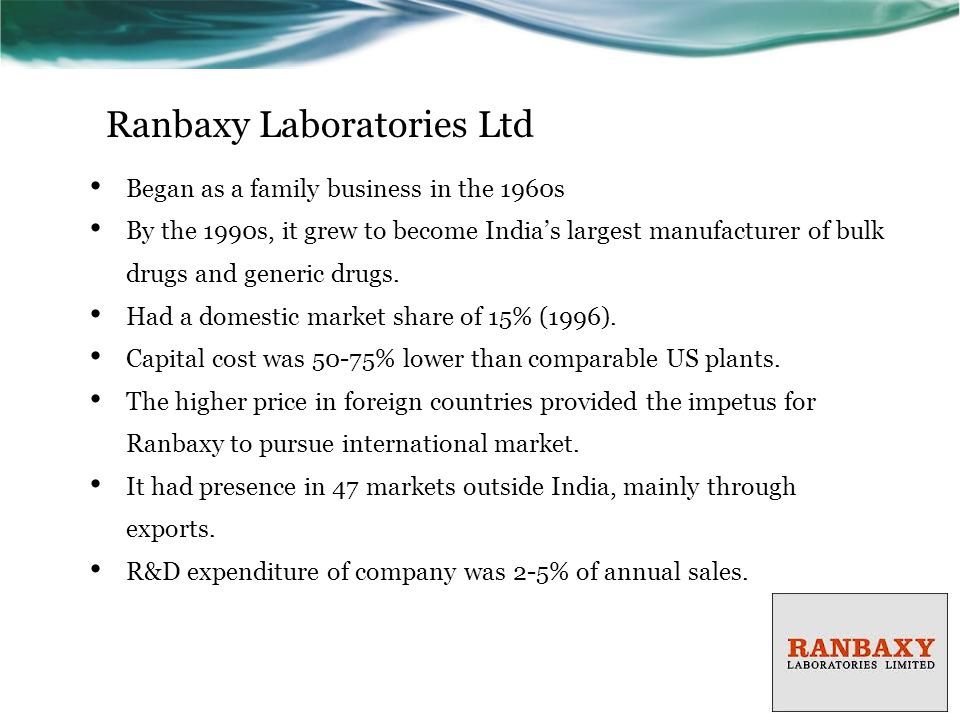 eli lilly ranbaxy joint venture The new president of intercontinental operations was re-evaluating all of the  company's divisions, including the joint venture with ranbaxy.