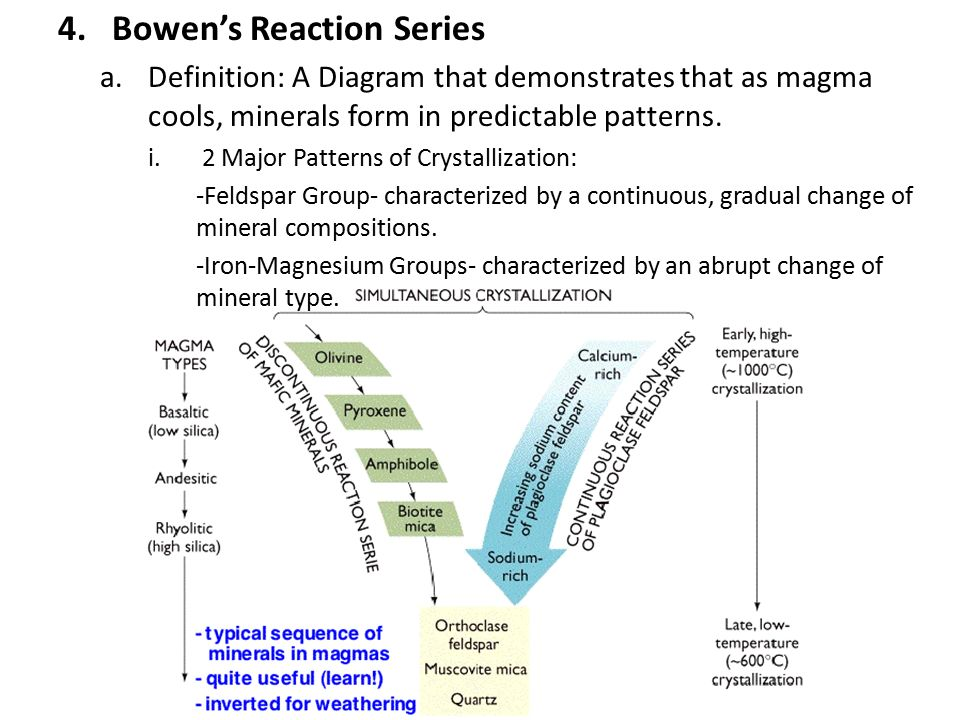 diagram of enzyme reaction involving bowen reaction diagram igneous rocks ch ppt video online download #10