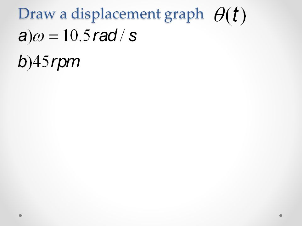 how to draw a displacement time graph