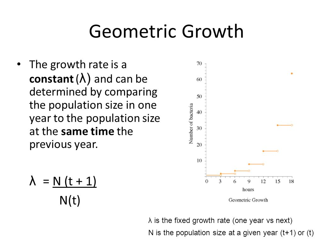 how to find the constant rate of growth