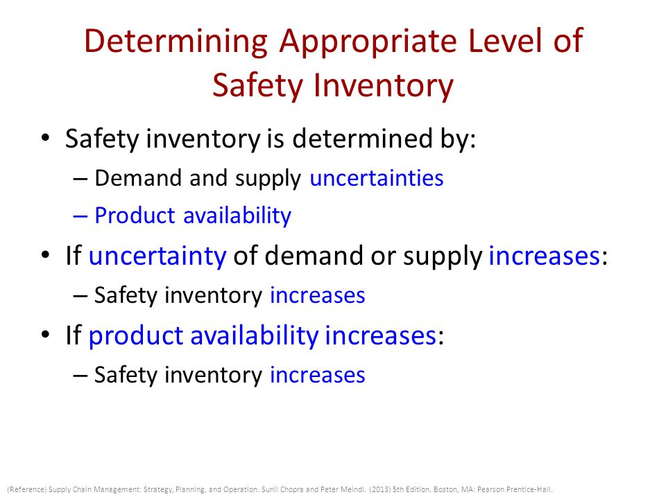 Determining safety stock