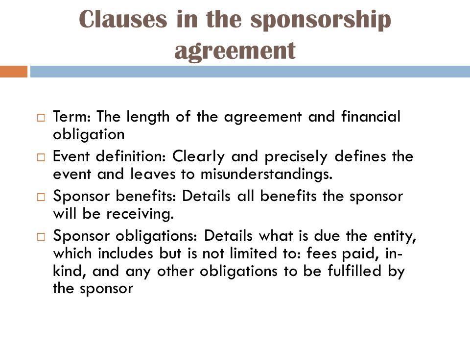 Explain the concept of sponsorship.