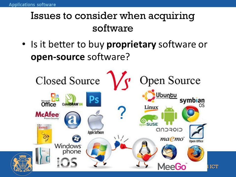 Issues to consider when acquiring software