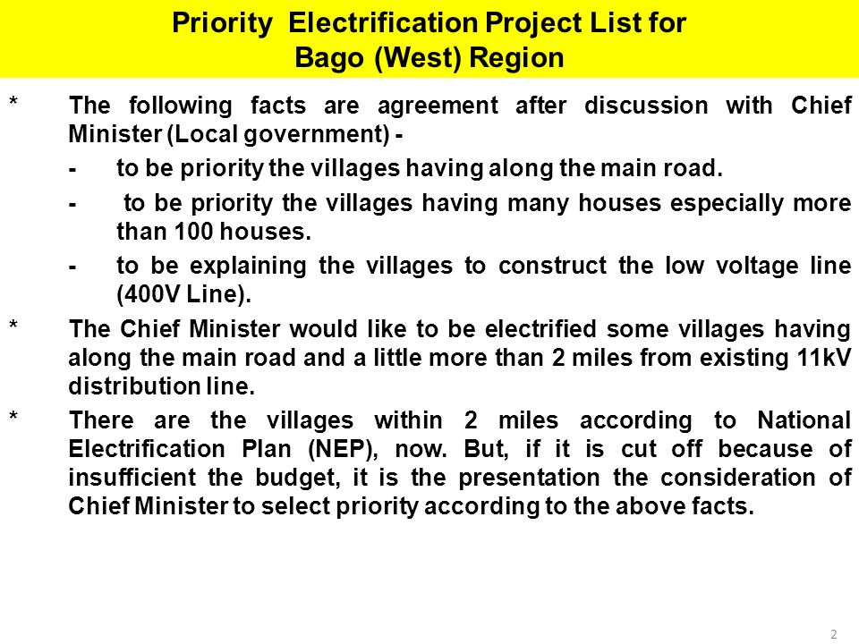 The Republic Of The Union Of Myanmar Ministry Of Electric Power - Facts about the west region