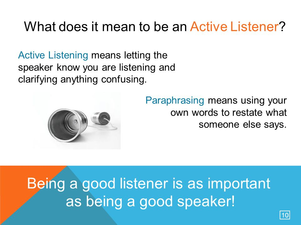 how to explain your a good listener