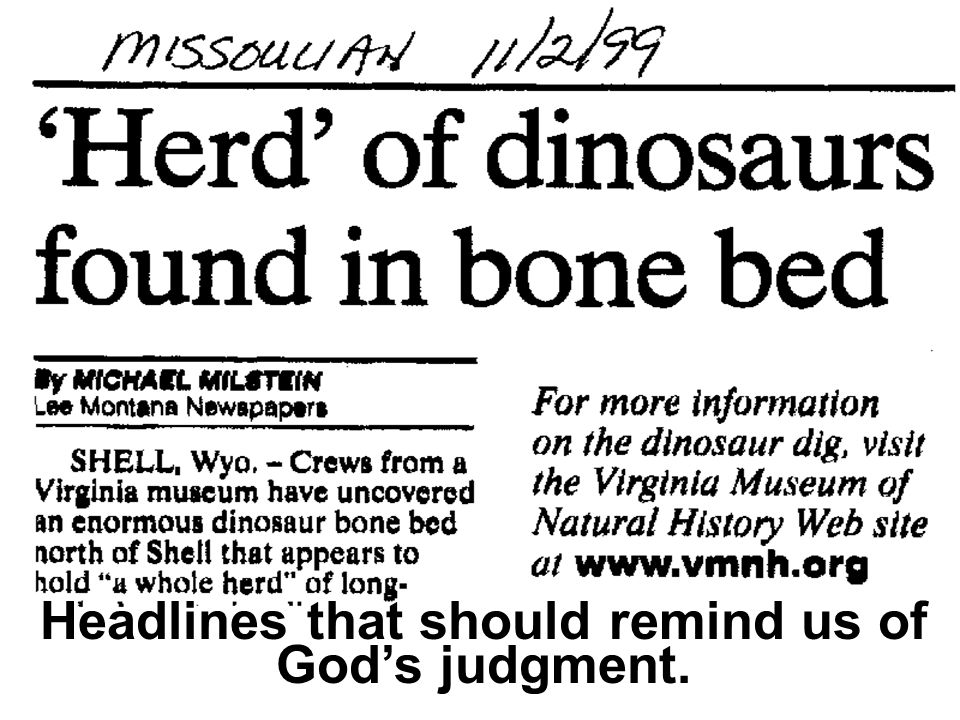 Headlines that should remind us of God's judgment.