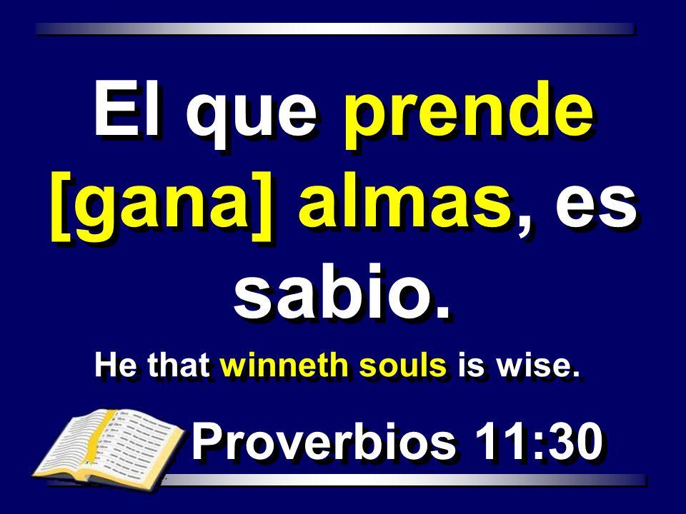 He that winneth souls is wise.