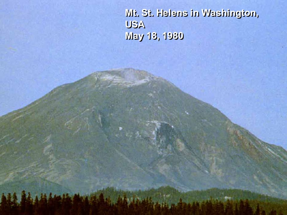 Mt. St. Helens in Washington, USA