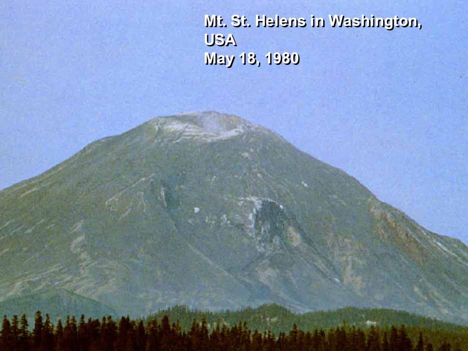 Mt. St. Helens in Washington, USA