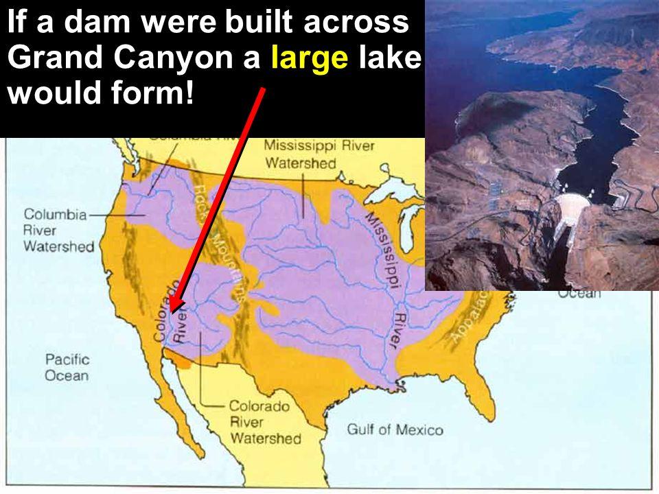 If a dam were built across