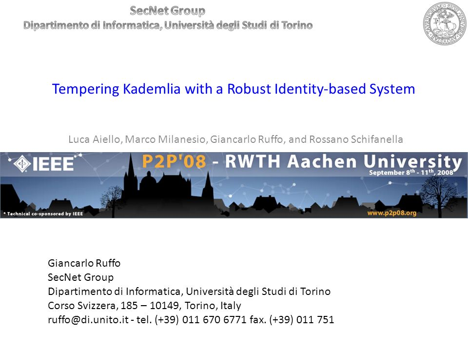 Tempering Kademlia with a Robust Identity-based System
