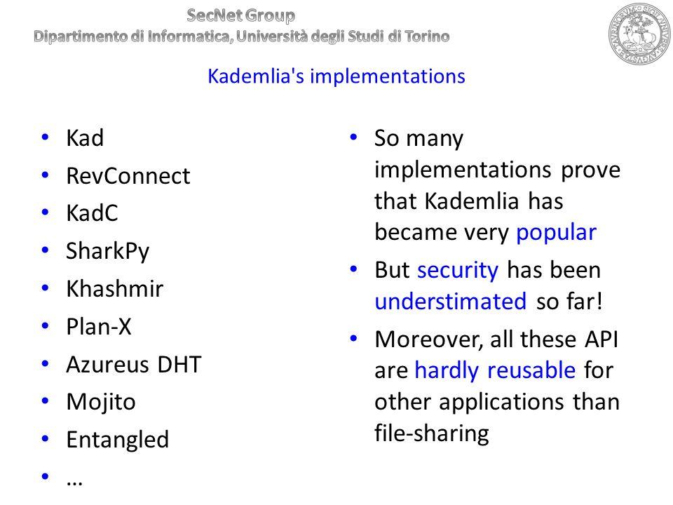 Kademlia s implementations