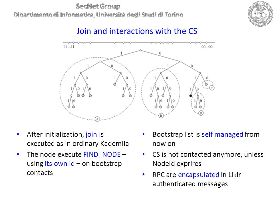 Join and interactions with the CS