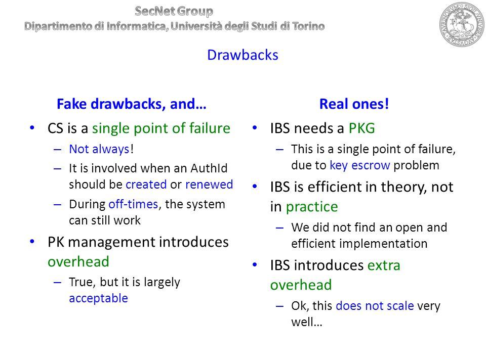 Fake drawbacks, and… Real ones!