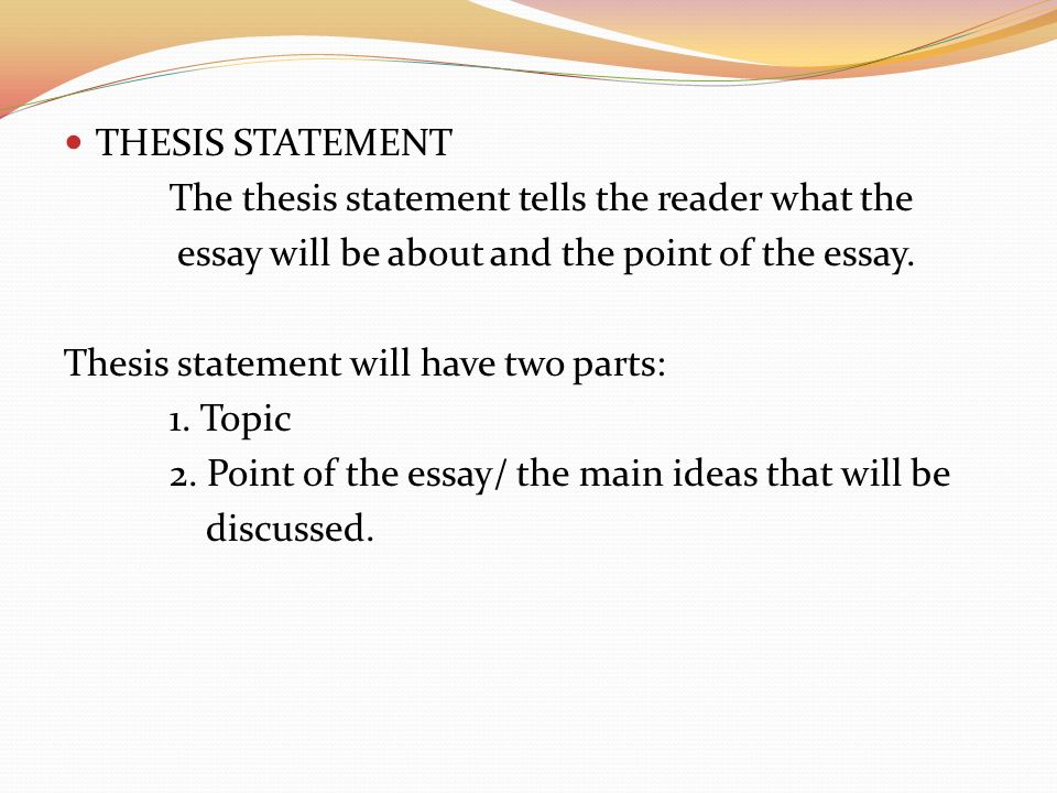 Good Narrative Essay Example  Thesis Statement  Essays On Nutrition also Cover Page For Essay Apa Essay Development Comparisoncontrast  Ppt Video Online Download Executive Summary Essay
