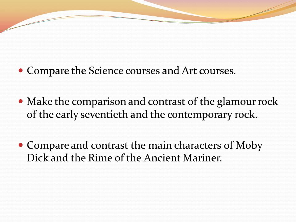 essay development comparison contrast ppt video online compare the science courses and art courses