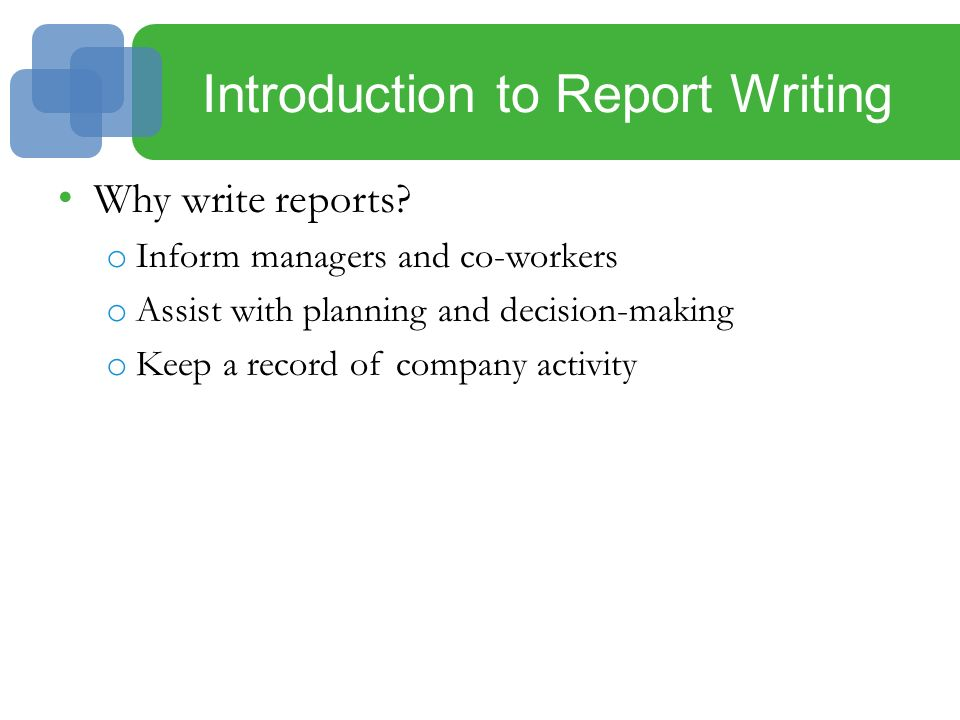 Help me write a report on business