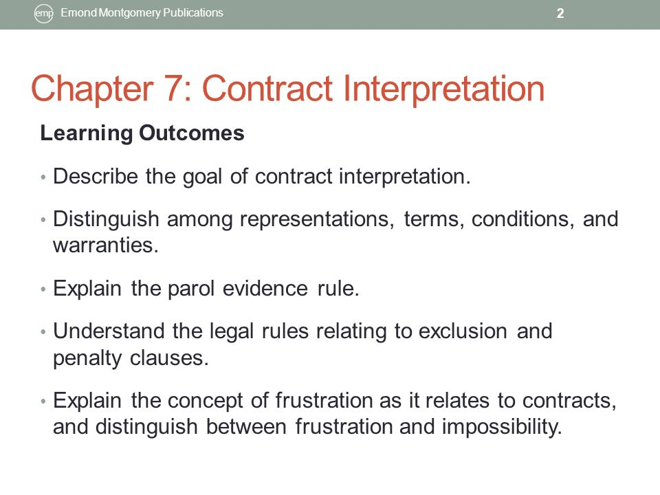 Chapter 7 Contract Interpretation Ppt Video Online Download
