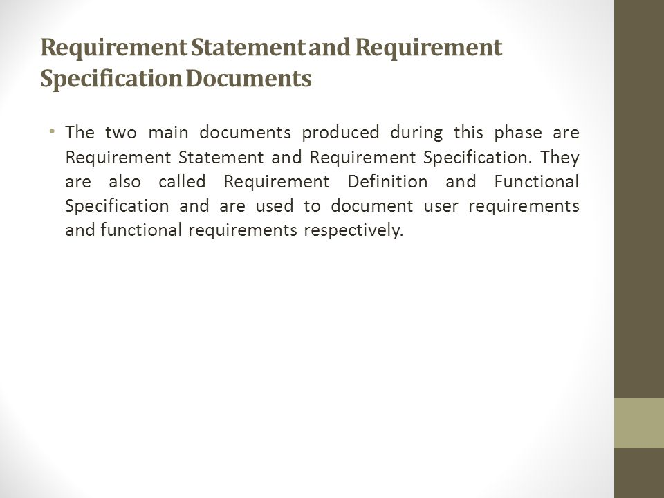 Software Requirements  Ppt Video Online Download