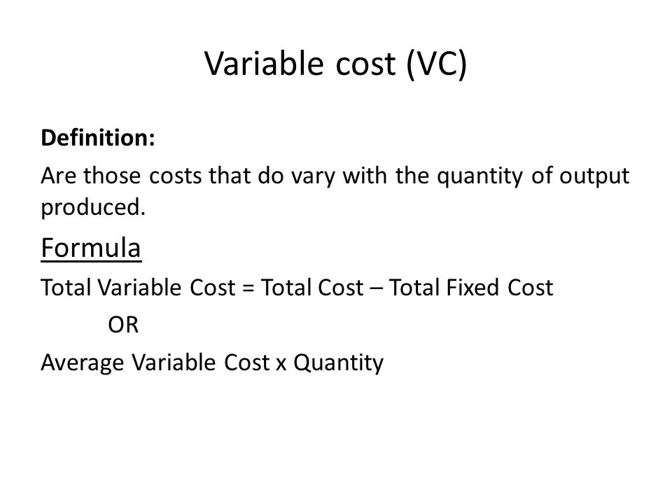 variable or fixed cost ¾how do fixed and variable costs differ.