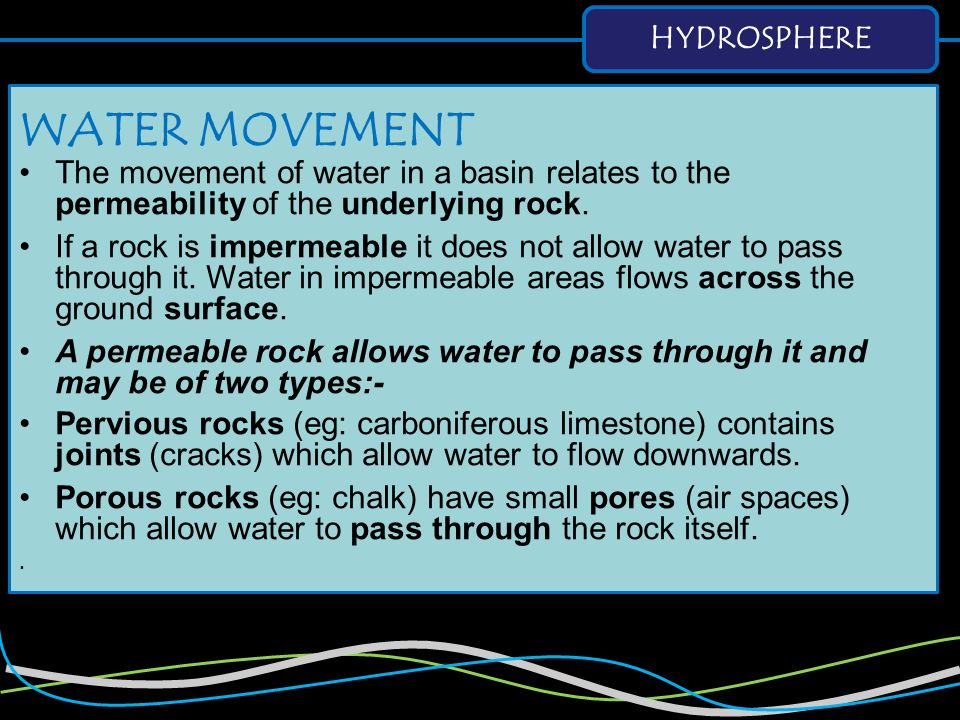WATER MOVEMENT HYDROSPHERE