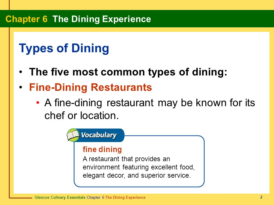 the different kinds of customers who dine in a restaurant These four players tend to focus on different  there is potential for greater disruption if more high-end customers opt to consume restaurant  consumers can.