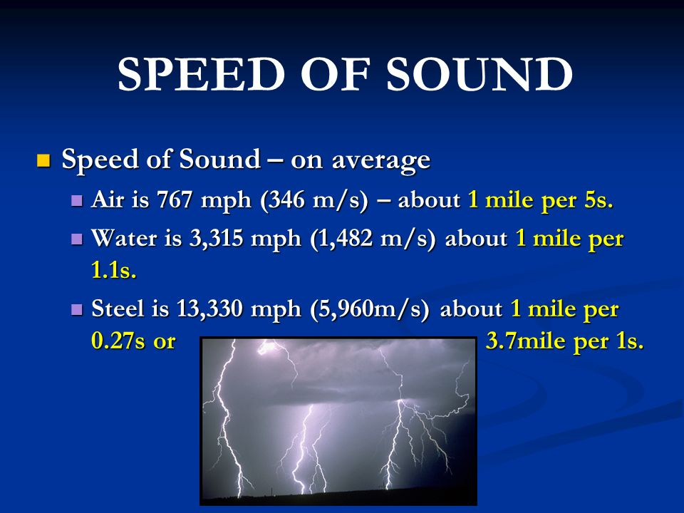 speed of sound by - photo #37