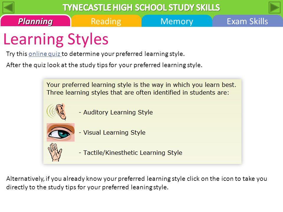 7 learning styles quiz pdf