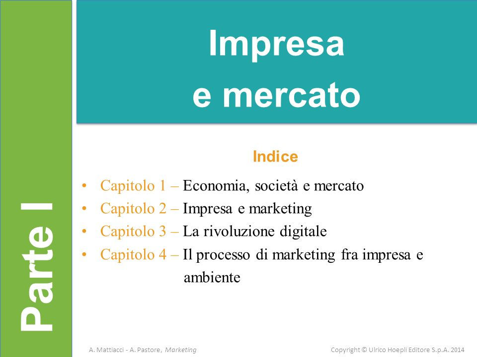 Parte I Impresa e mercato Indice