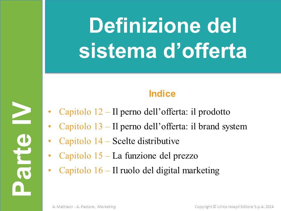 Definizione del sistema d'offerta