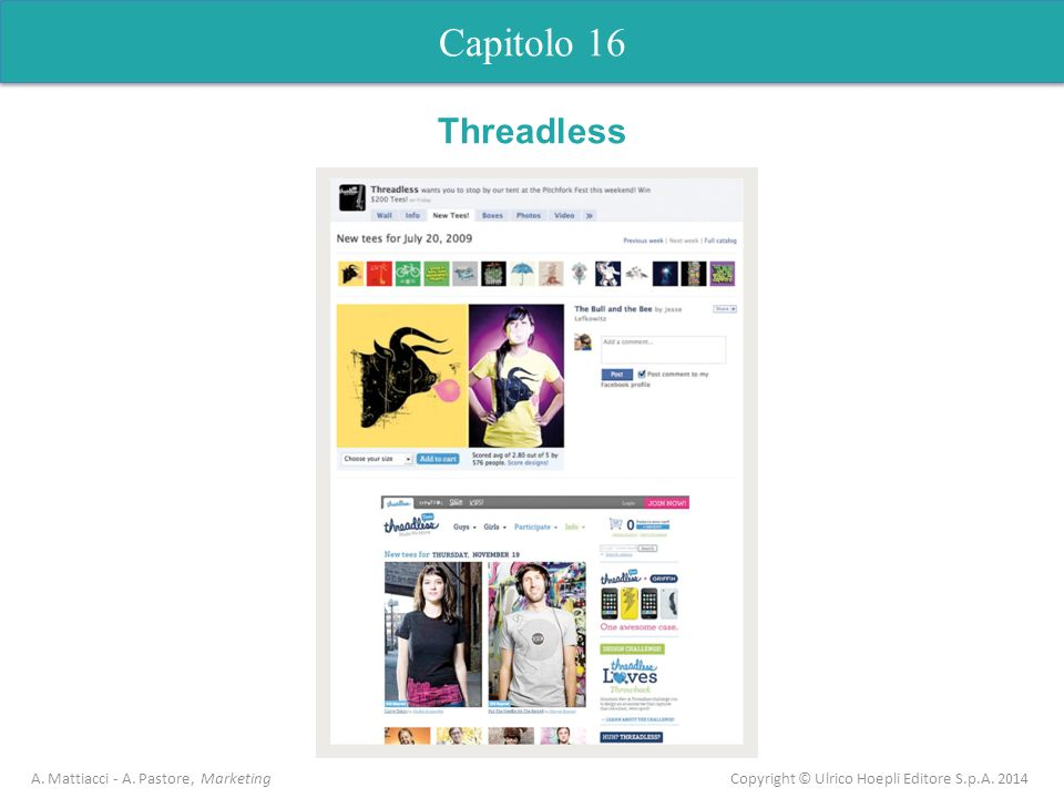 Capitolo 5 Analisi dell'offerta Capitolo 16 Threadless