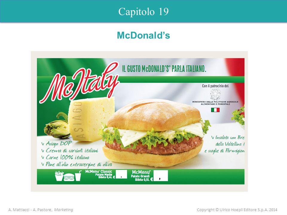 Capitolo 19 McDonald's. A. Mattiacci - A.