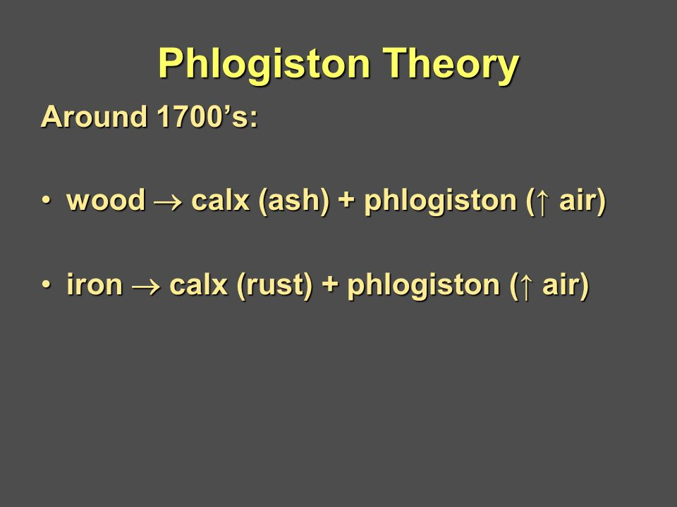 The Rise and Fall of the Phlogiston Theory of Fire