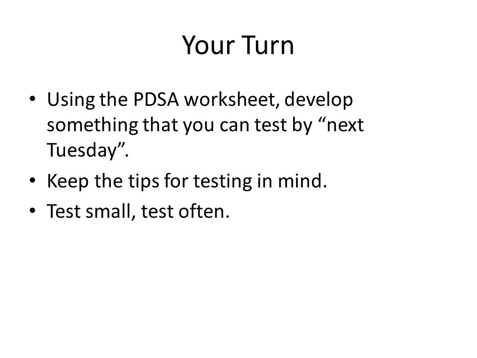 A Deeper Dive into the Model for Improvement--Why We Use It - ppt ...