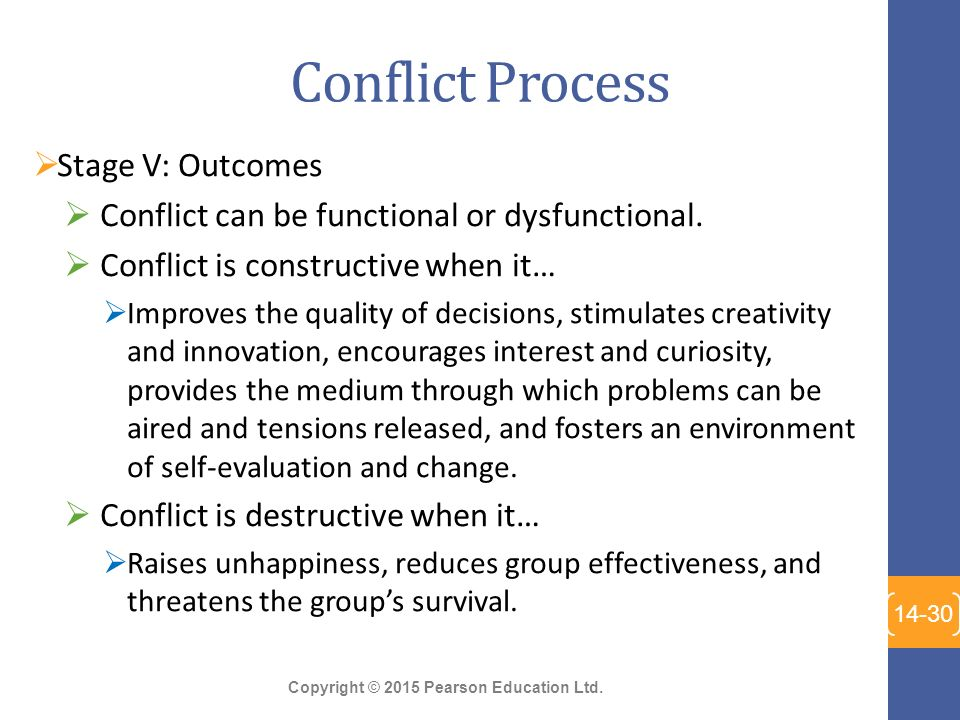 the conflict process stages A stepwise process for dispute resolution can be a helpful strategy to  more  information at the early stage can frequently end a dispute.