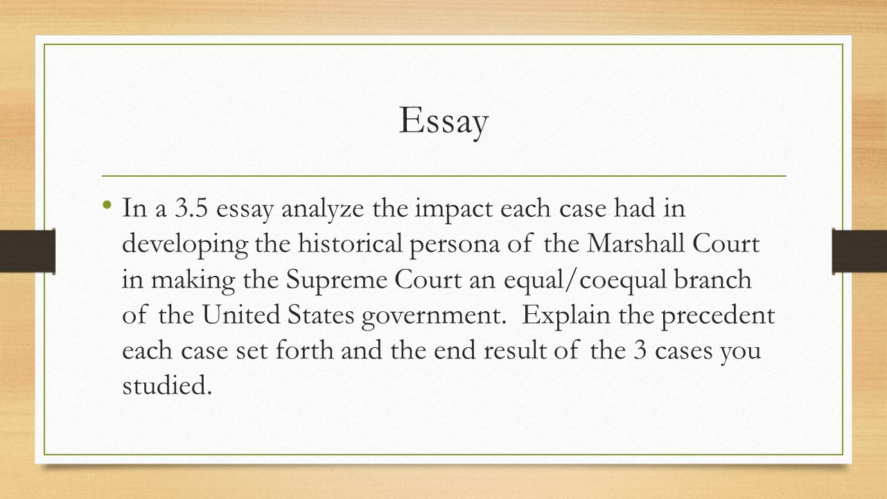 the marshall court ppt video online  essay