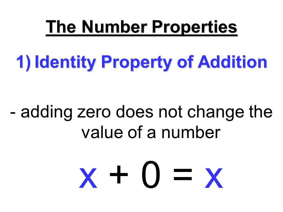 Identity Property of Addition: Definition &amp- Example - Video ...