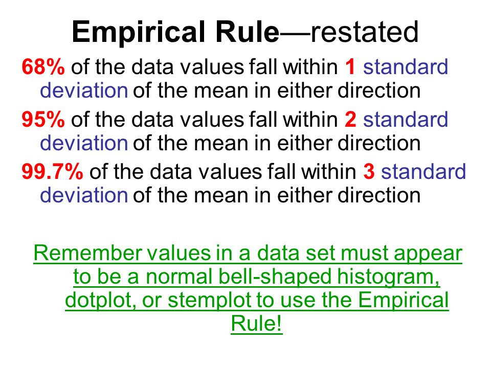 how to find standard deviation using empirical rule