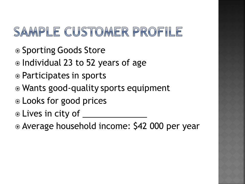 Creating Customer Profiles  Ppt Download