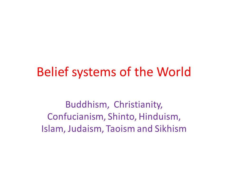 essay belief systems