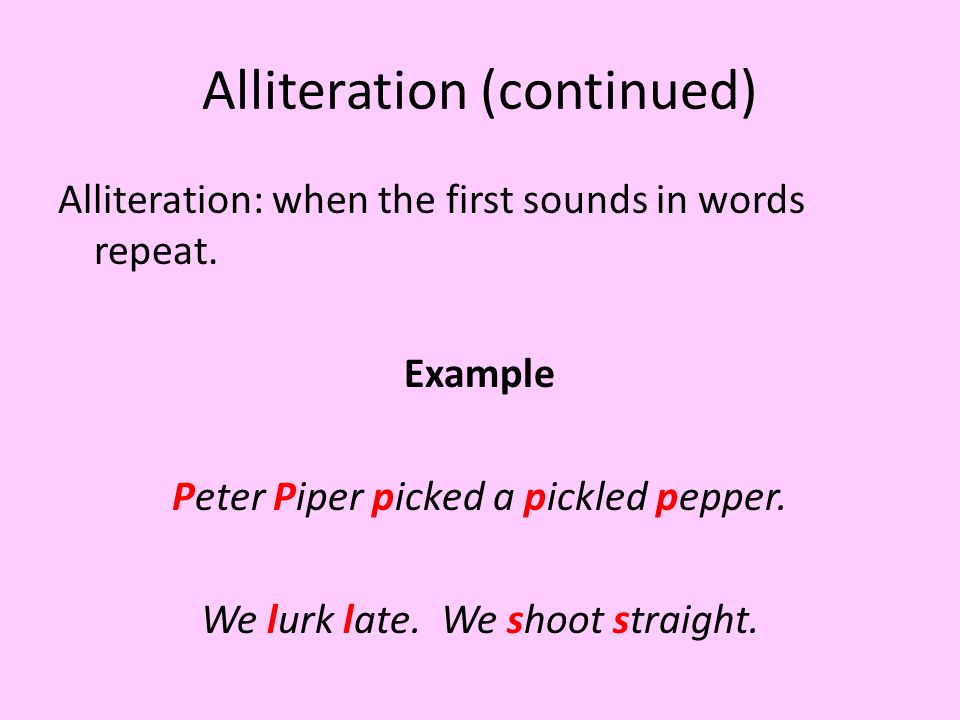 Alliteration Examples Peter Piper Beowulf Ppt Video Online