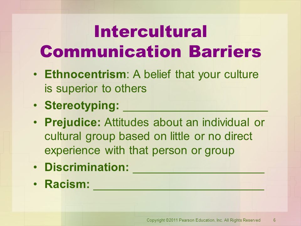 Six Barriers to Intercultural Communication