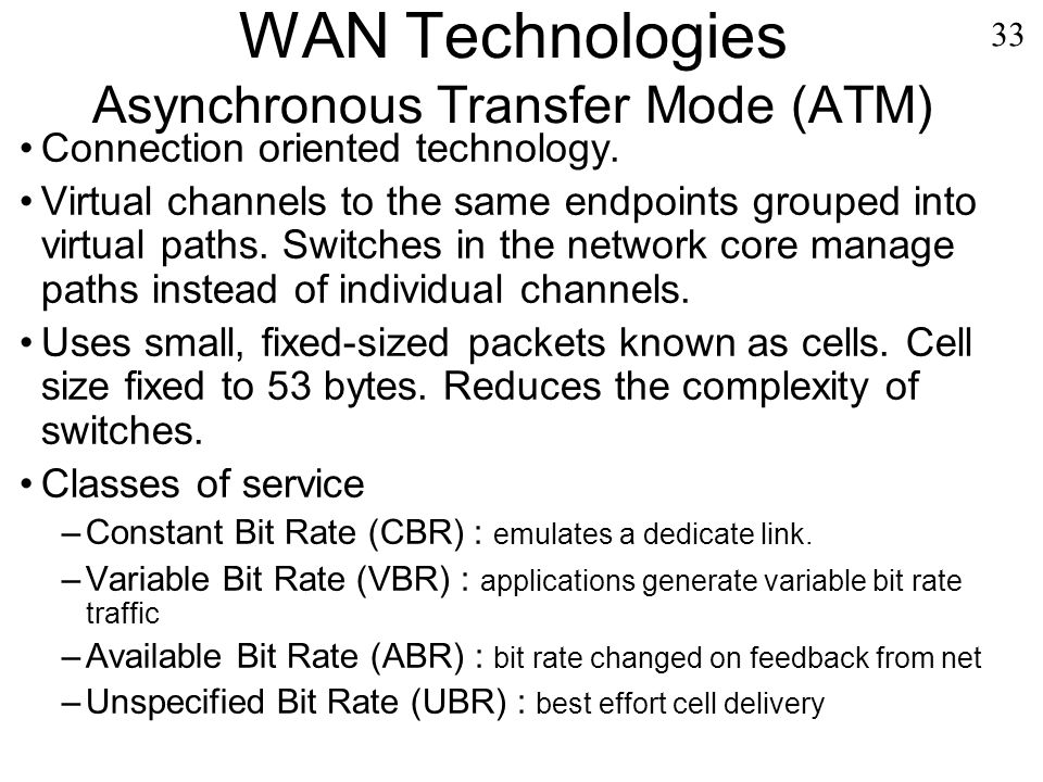 the advantages of using asynchronous transfer mode Introduction to asynchronous transfer mode (atm) today i am going to talk about the protocol asynchronous transfer mode (atm) atm is one of the legacy protocol used for the wan network by service providers apart from frame relay and these days very rare enterprise networking using these technologies.