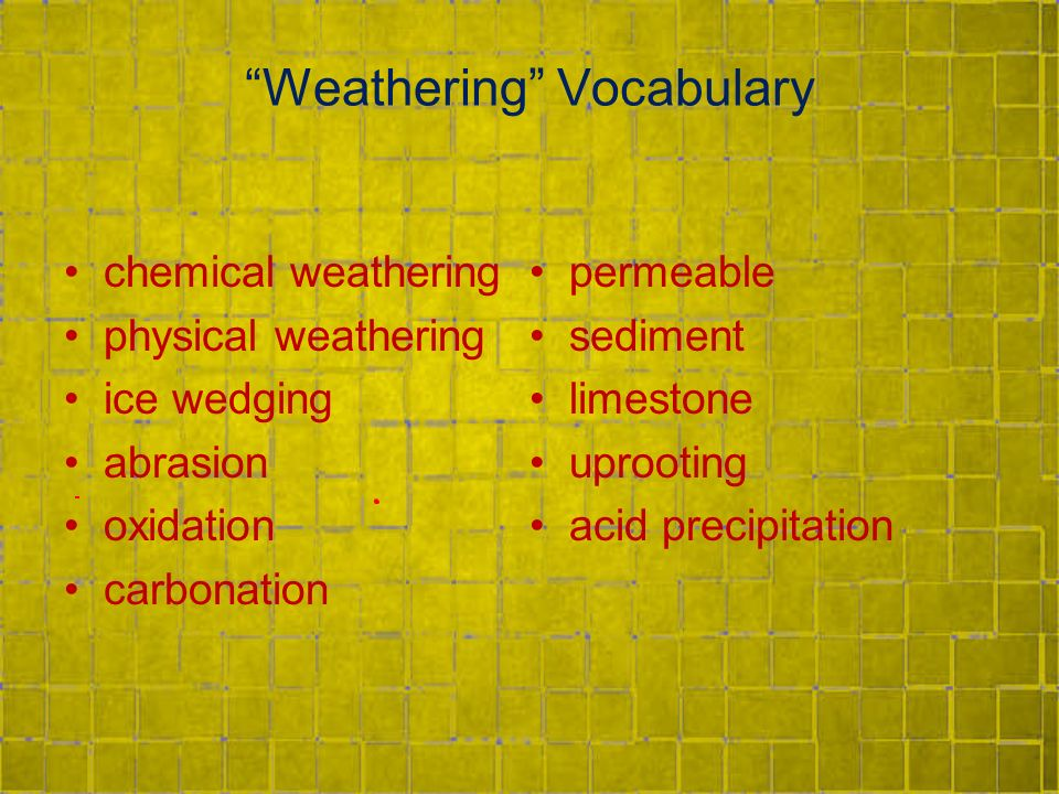 Physical and Chemical Weathering - ppt video online download