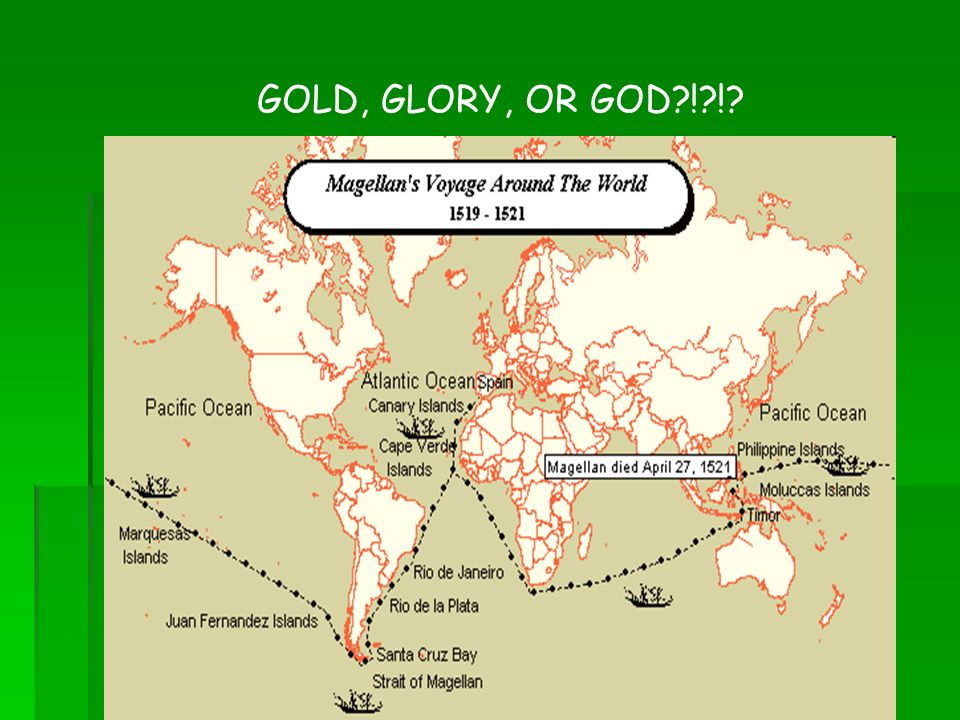 god gold and glory God, gold, and glory to what extent did the quest for god, gold and glory contribute to the spanish conquest of the aztecs and the incas as early as 1493, spanish colonists sailed to the islands columbus had discovered in the caribbean.
