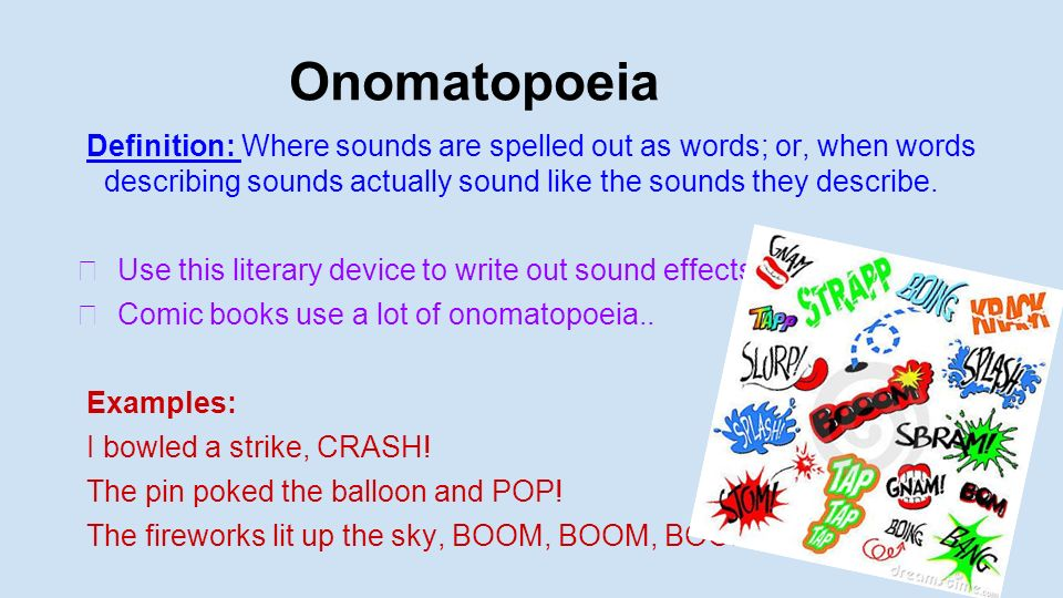 Onomatopoeia Examples And Definition Gallery Example Cover Letter