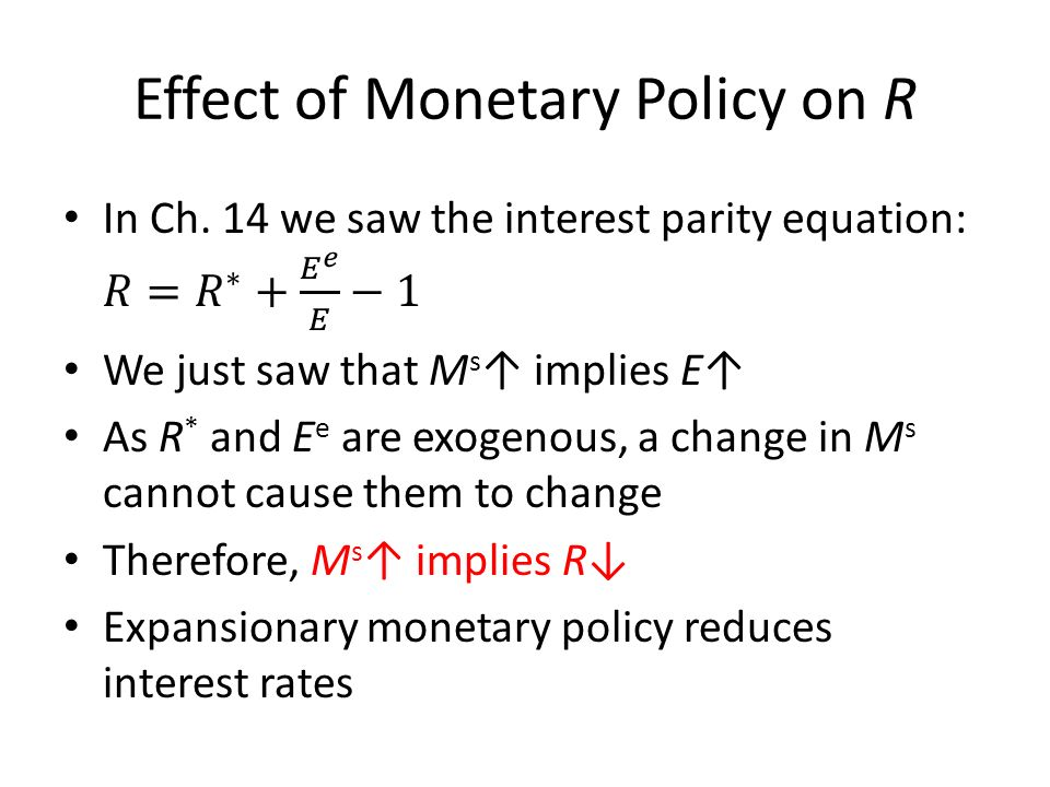 monetary policy and its effect on Read this essay on monetary policy and it's effect on macroeconomic factors come browse our large digital warehouse of free sample essays get the.