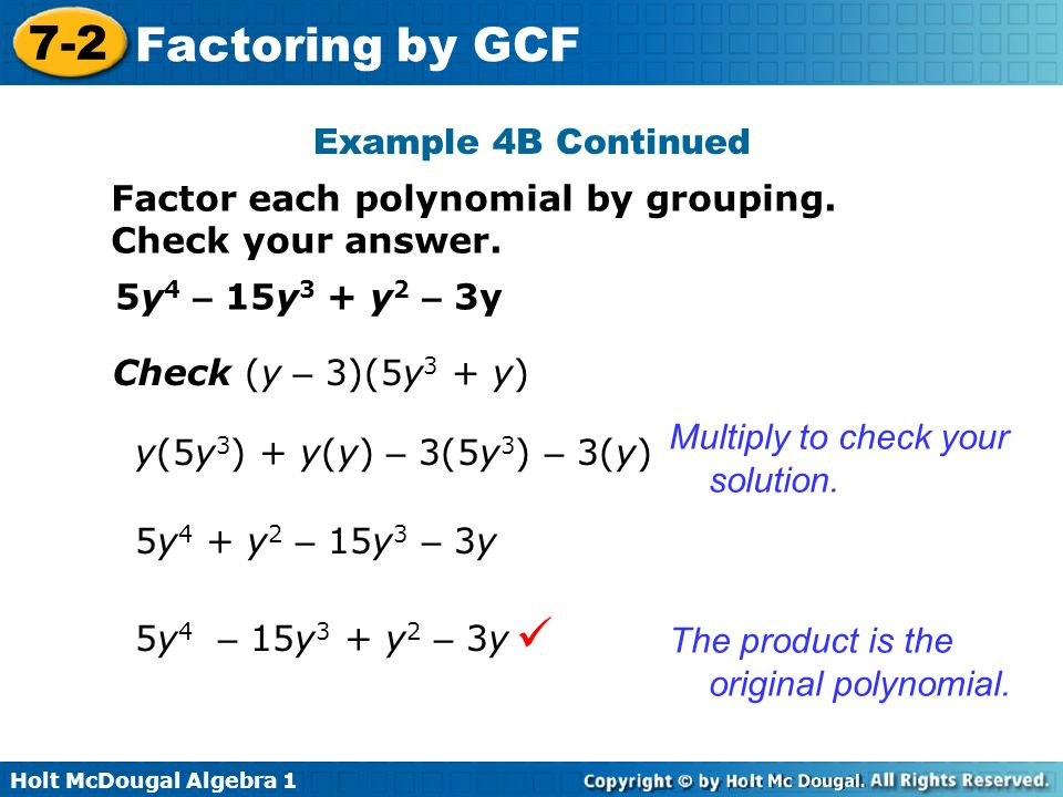 Objective Factor polynomials by using the greatest common factor – Factoring Polynomials by Grouping Worksheet