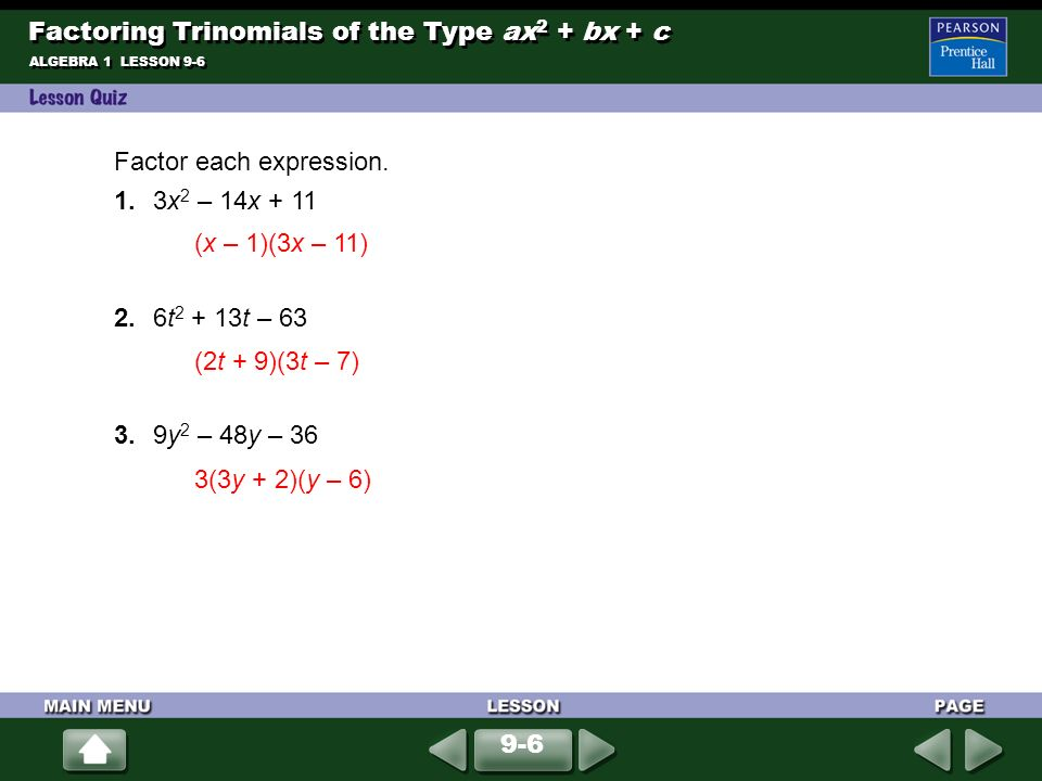 Adding and Subtracting Polynomials ppt download – Factoring Trinomials of the Form Ax2 Bx C Worksheet Answers