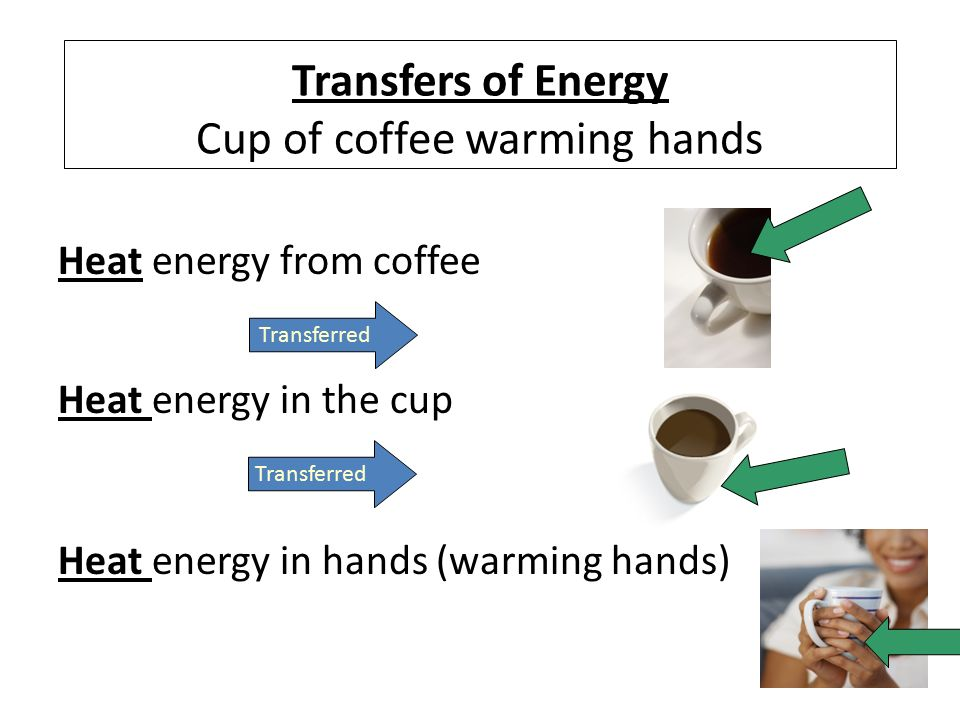 Forms of energy electrical energy heat thermal energy light transfers of energy cup of coffee warming hands sciox Image collections